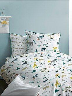 Maison - Parure de lit réversible 'safari' - Kiabi