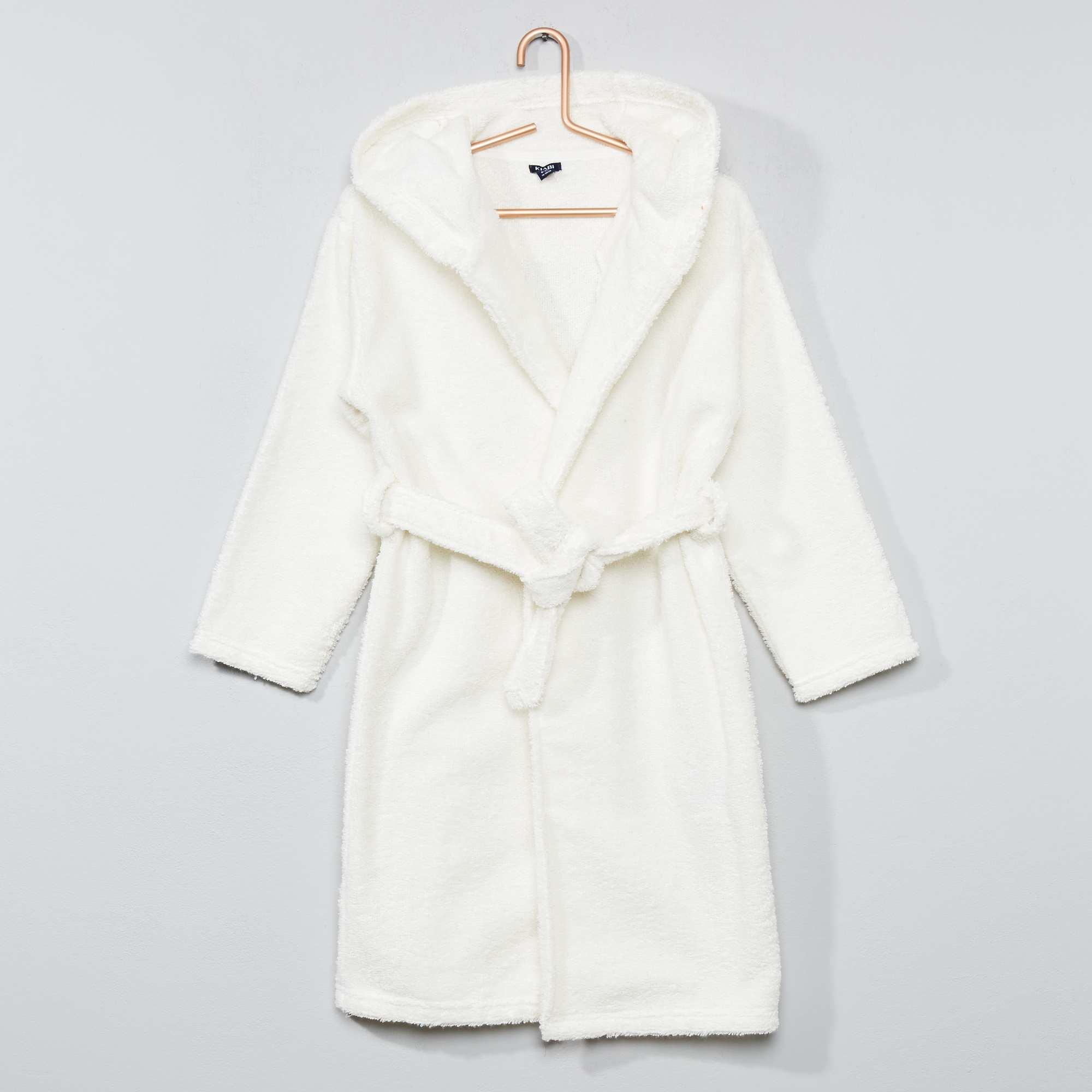 peignoir capuche en ponge fille blanc kiabi 15 00. Black Bedroom Furniture Sets. Home Design Ideas