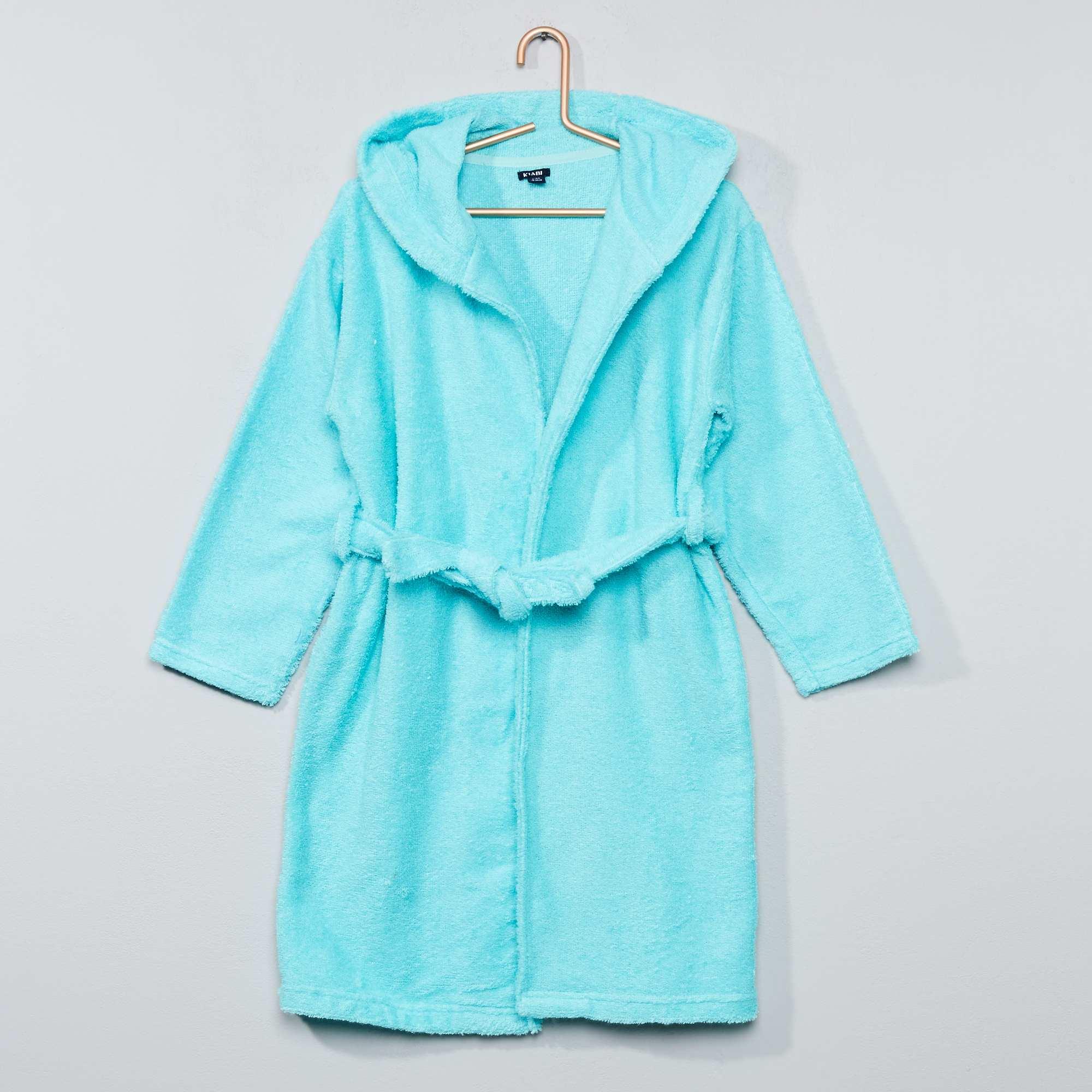 peignoir capuche en ponge fille bleu kiabi 15 00. Black Bedroom Furniture Sets. Home Design Ideas