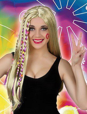 Perruque femme hippie - Kiabi