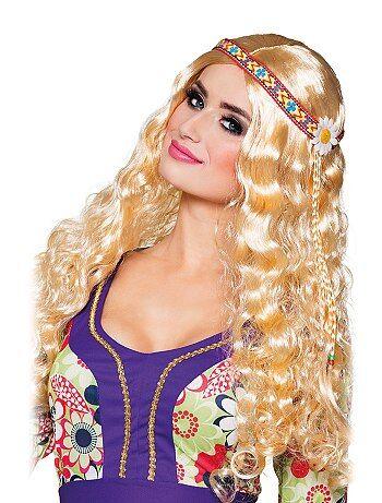 Accessoires - Perruque hippie avec bandeau - Kiabi