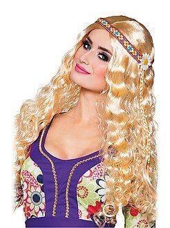 Accessoires Perruque hippie avec bandeau