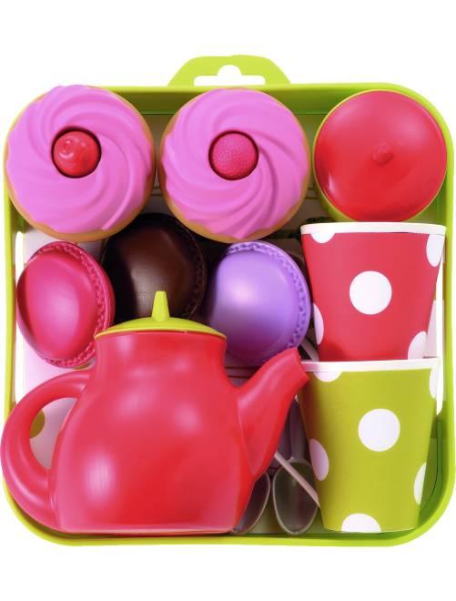Plateau service à thé et cupcakes                             multicolore