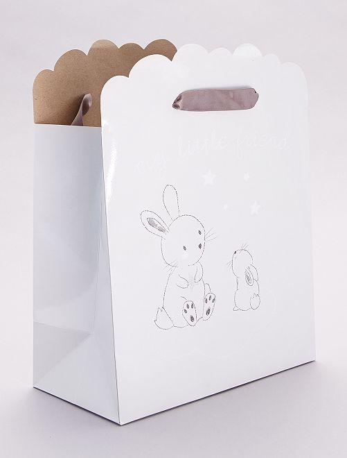 Pochette cadeau pour bébé                                                                 beige grisé