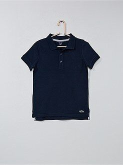 Polo bleu - Polo en coton piqué - Kiabi