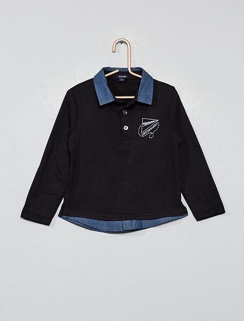 Polo en jersey                             noir