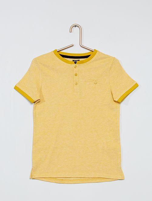 Polo en piqué de coton                             jaune bronze