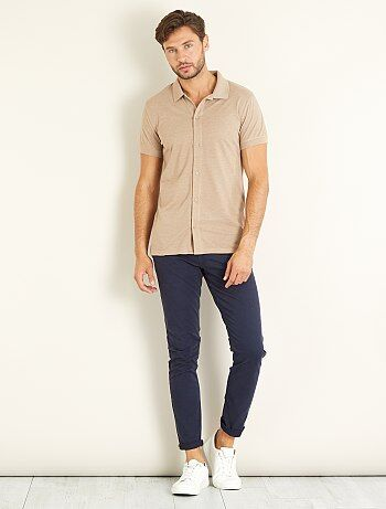 Polo piqué esprit chemise - Kiabi