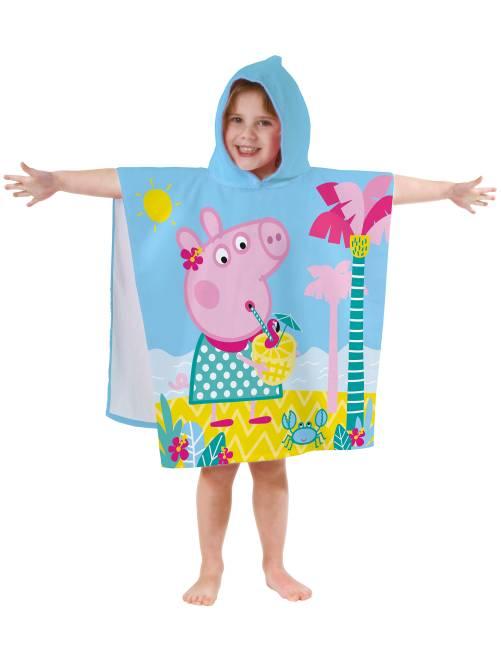 Poncho de bain à capuche 'Peppa Pig'                             bleu Fille