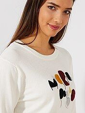 Pull animation maille bouclette