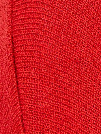 ded0e2bf26ba Pull col V en maille bouclette Femme - rouge - Kiabi - 15