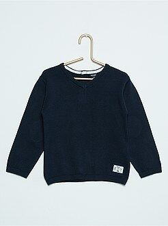 Pull, gilet, sweat - Pull col V pur coton