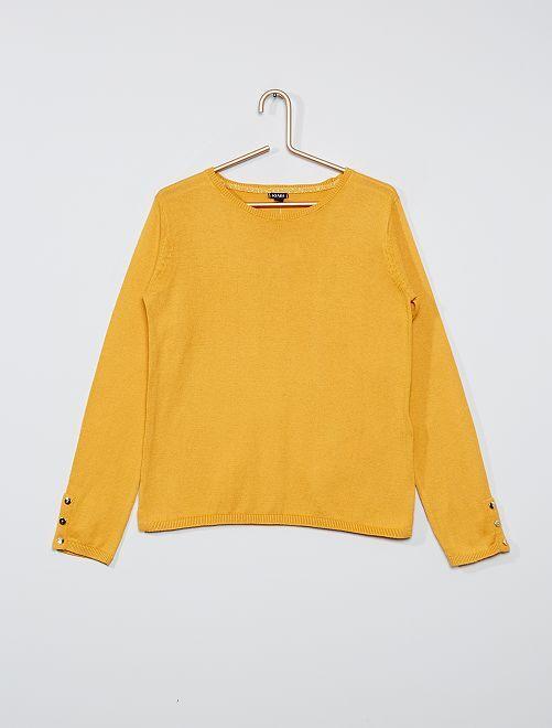 Pull fin éco-conçu                     jaune