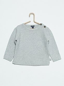 Pull maille point mousse