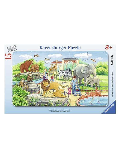 Puzzle 'Excursion au zoo' de 'Ravensburger'                             bleu