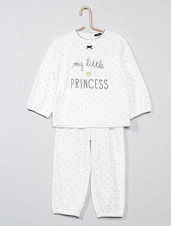 Fille 0-36 mois - Pyjama 2 pièces en velours - Kiabi