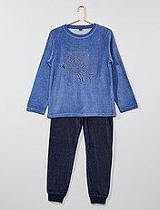 Pyjama 2 pièces en velours imprimé