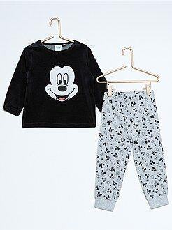 Pyjama, peignoir - Pyjama 2 pièces en velours 'Mickey'