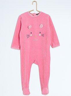 Pyjama avec pieds imprimé 'souris'