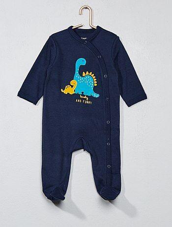 Pyjama brodé pur coton - Kiabi