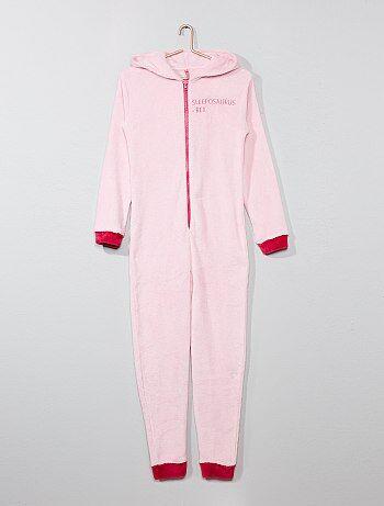 Pyjama combinaison en polaire 'Dinosaure' - Kiabi
