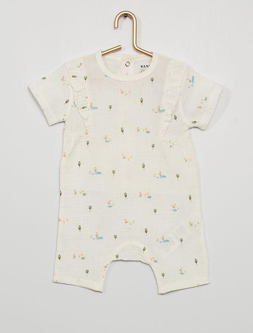 Pyjama court éco-conçu                                         blanc