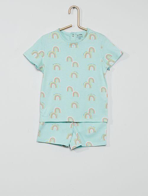Pyjama court éco-conçu                                                                 bleu