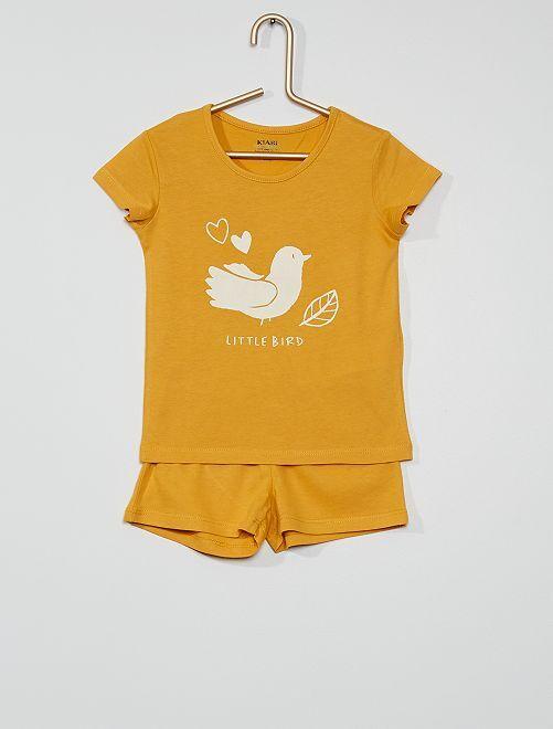 Pyjama court éco-conçu                                                                 jaune