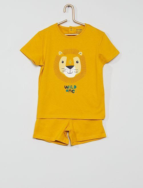Pyjama court éco-conçu                                                                 orange