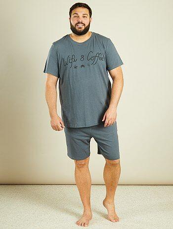 soldes pyjama peignoir homme grande taille homme kiabi. Black Bedroom Furniture Sets. Home Design Ideas