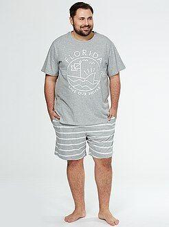 Pyjama court jersey imprimé