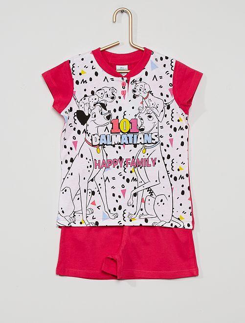 Pyjama court 'les 101 Dalmatiens'                                         blanc
