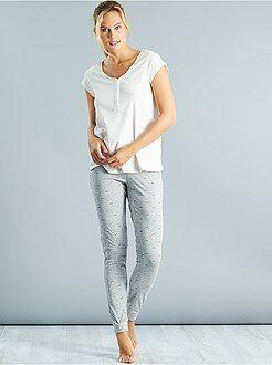 Maternité Pyjama d'allaitement en coton
