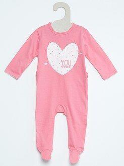 Pyjama en coton imprimé fantaisie