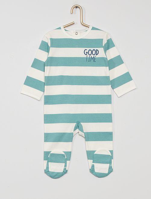 Pyjama en jersey 'éco-conçu'                                                                                                                                                                                                                                         blanc/bleu