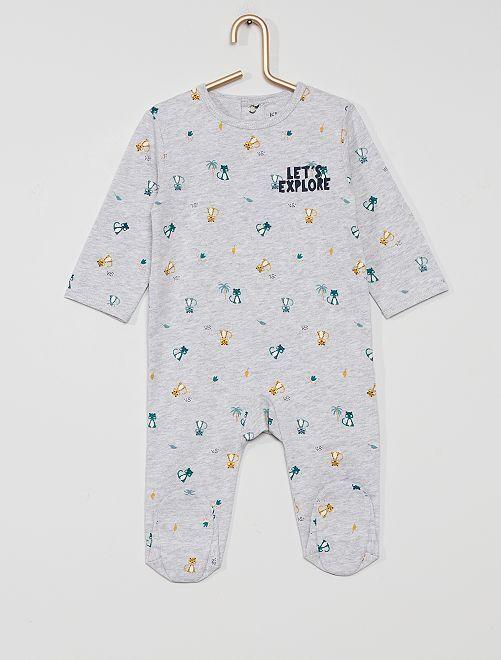Pyjama en jersey 'éco-conçu'                                                                                                                                                                                                                                         gris