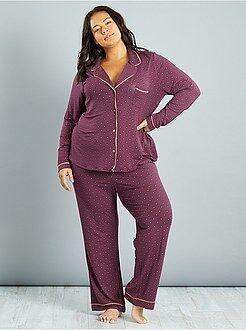 Pyjama, nuisette - Pyjama en jersey imprimé cravate