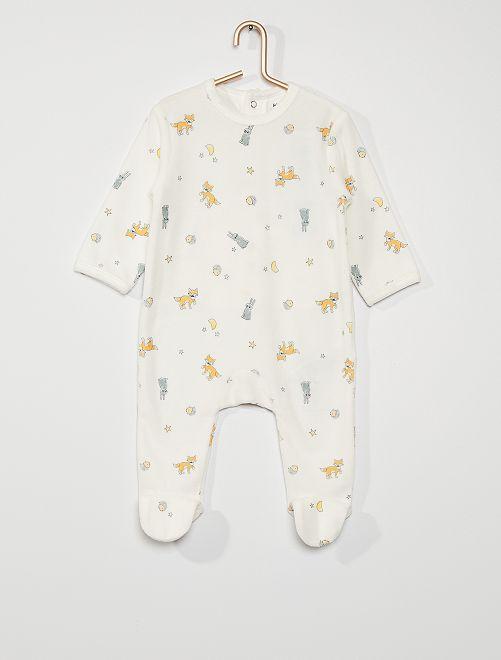 Pyjama en velours                                                                                                                                                                                                                                         blanc