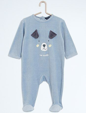 Pyjama en velours 'chien' - Kiabi