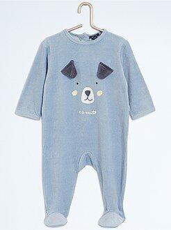Pyjama en velours 'chien'