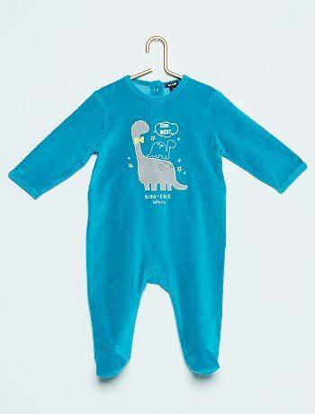 Pyjama en velours 'dinosaure' - Kiabi