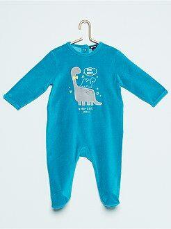 Garçon 0-36 mois Pyjama en velours 'dinosaure'