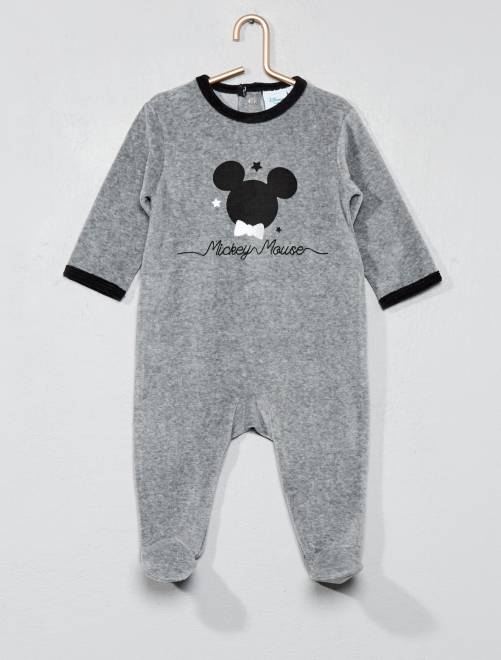 pyjama en velours 39 disney 39 b b gar on mickey kiabi 8 00. Black Bedroom Furniture Sets. Home Design Ideas