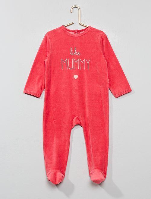 Pyjama en velours                                                     fuschia Bébé fille