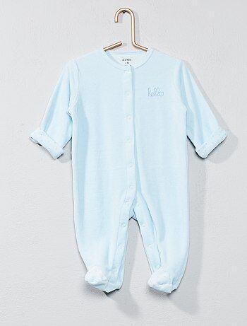 Pyjama en velours 'hello' - Kiabi