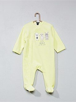Pyjama en velours imprimé 'animaux'