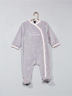 Pyjama - Pyjama en velours imprimé 'chouchoute'