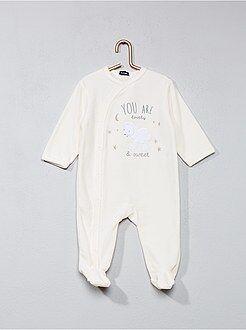 Pyjama - Pyjama en velours imprimé 'mouton'