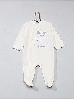 Pyjama, peignoir - Pyjama en velours imprimé 'mouton'