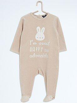 Pyjama en velours 'lapin'